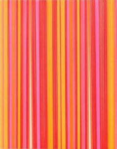 Pink Pines, 2019 Lanyards on Panel 20 x 16